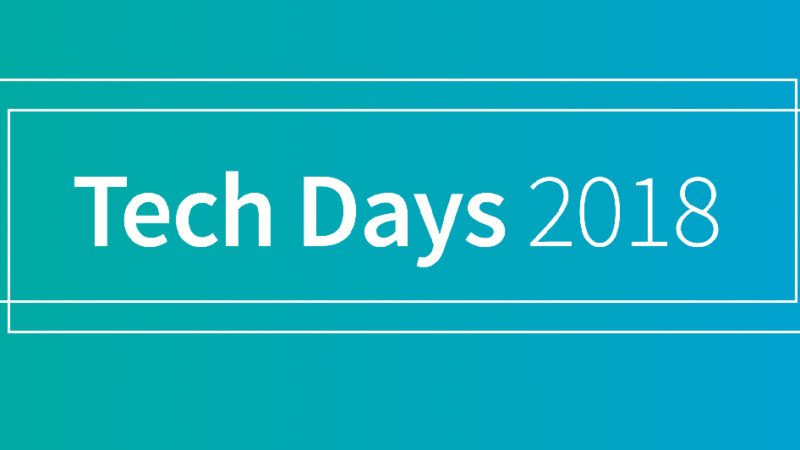 Our review of Tech Days 2018
